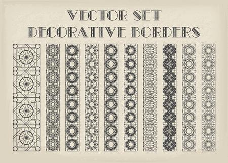 Vector decorativi confini Archivio Fotografico - 80103181
