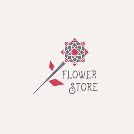 A Vector Flower Store Emblem Vetores