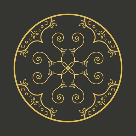 aboriginal art: Vector geometric symbol