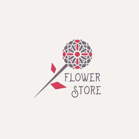 Vector Flower Store Emblem Illustration