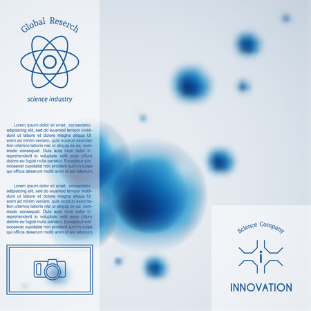 Abstract molecule background vector template Illustration