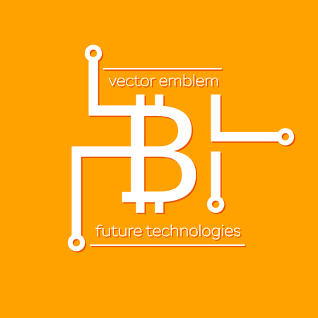 Bitcoin Vector Symbol Illustration