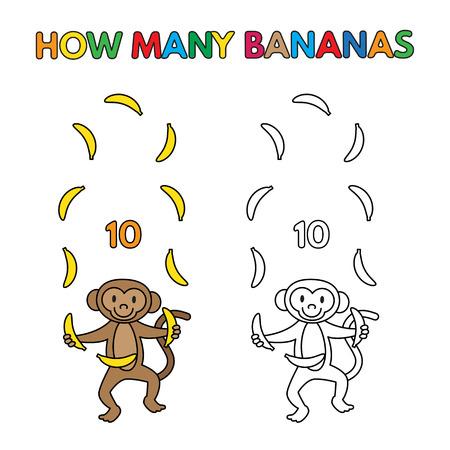 Mono De La Historieta Que Cuenta Los Plátanos Para El Libro De ...