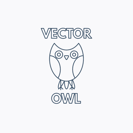 Vector Linear Owl Emblem Stock Vector - 86700248