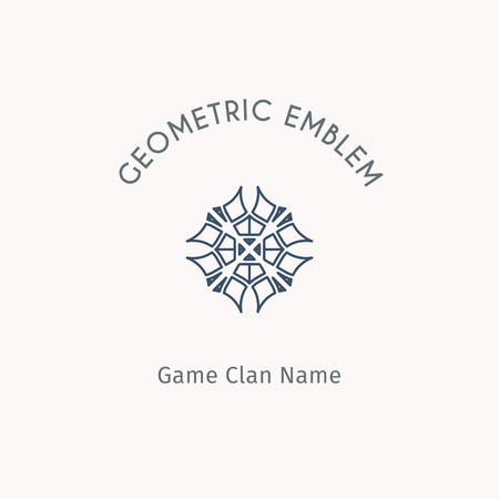 Geometric logo template. Vector linear modern symbol for alternative or extreme sport teams and crews.
