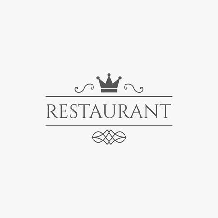 Vintage restaurant logo. Vector retro design for restaurants and cafes.
