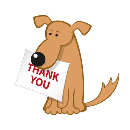 Cartoon Hund mit Nachrichtensymbol Vektorgrafik