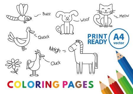Livre de coloriage animaux drôles