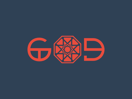 Asian Religious Poster with God Title Design Çizim