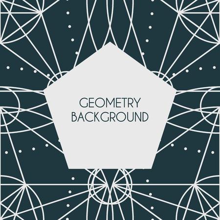 Vector Magic Geometry Background Imagens - 122345445
