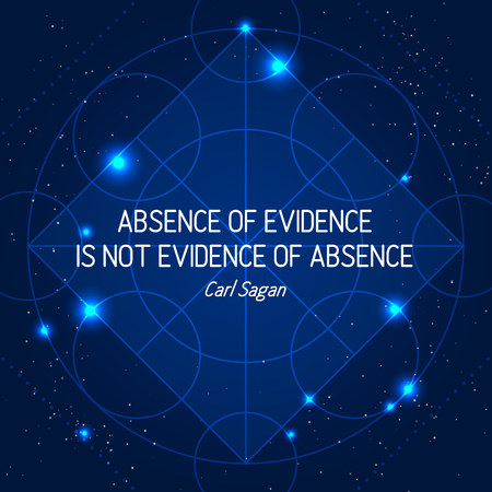 Absence Of Evidence Is Not Evidence Of Absence  イラスト・ベクター素材