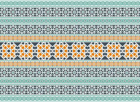 Vector frontera patrón árabe