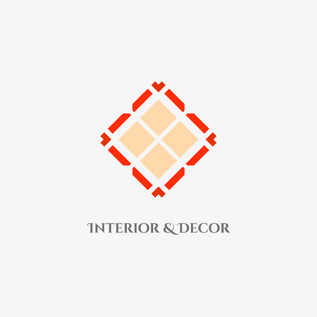 Vector mosaic rhombus emblem