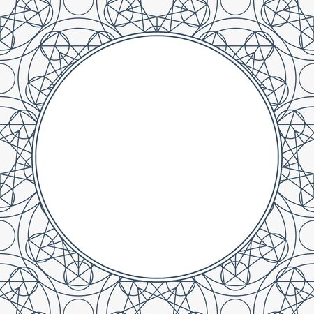 Vector Linear Geometry Background with Frame 矢量图像