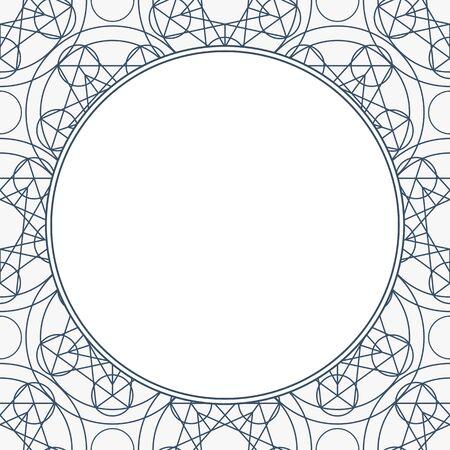 Vector Linear Geometry Background with Frame Ilustração