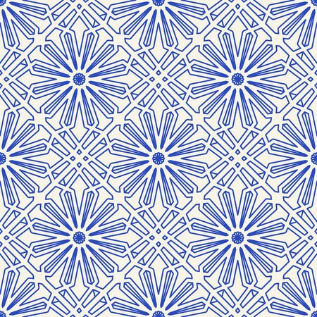 Vector Asian Linear Geometric Pattern