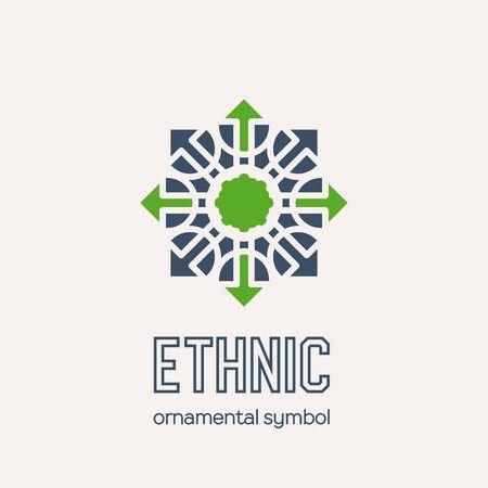 Vector Mosaic Ethnic Emblem