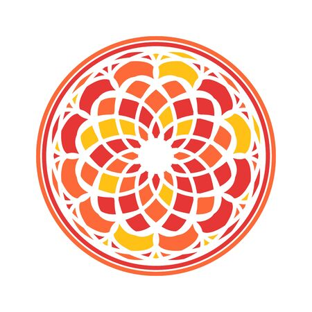 Colorful Mandala Vector Circular Ornament