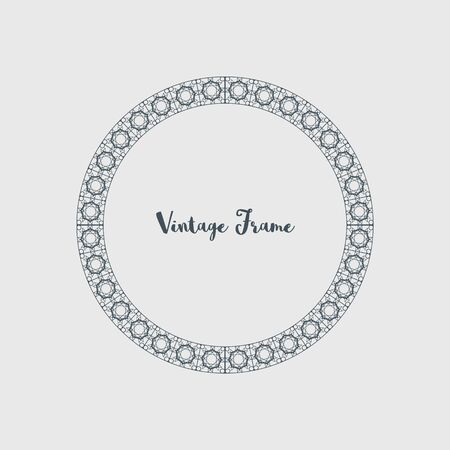 Vector Decorative Circle Frame
