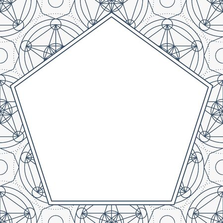 Vector Linear Geometry Background with Frame Çizim