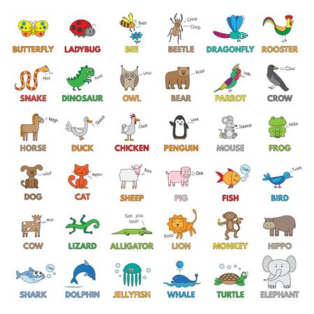 Cartoon Animals for Children Education