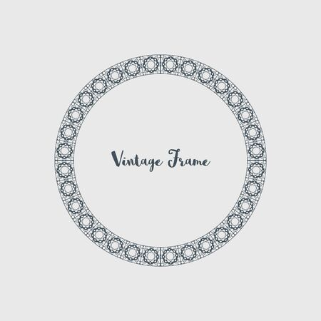 Vector Decorative Circle Frame