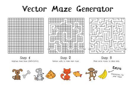 Vector Maze Game Generator