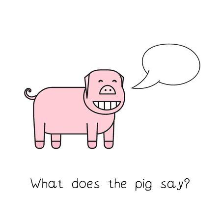 Cartoon Pig Funny Game Ilustração