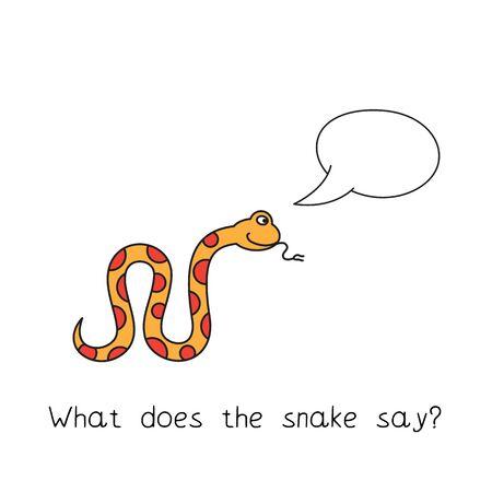 Cartoon Snake Kids Learning Game
