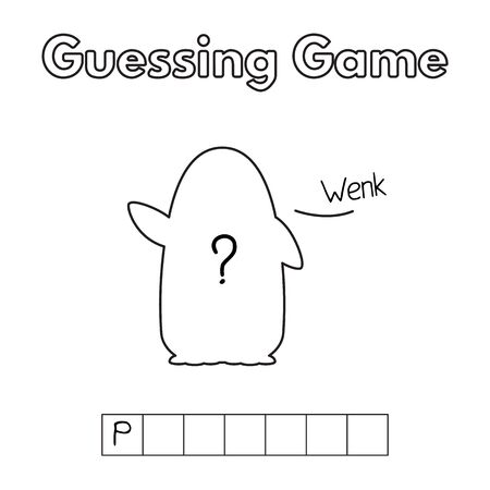Cartoon Penguin Guessing Game