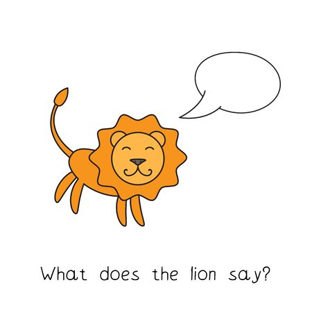 Cartoon Lion Kids Learning Game