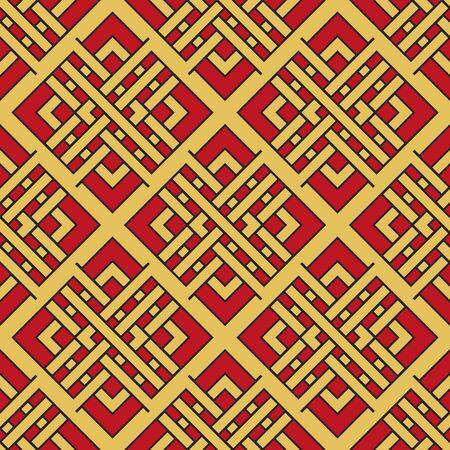 Vector patrón geométrico asiático