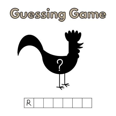 Cartoon Rooster Guessing Game