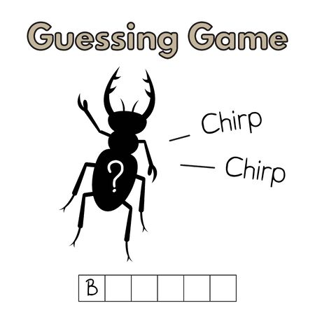 Cartoon Beetle Guessing Game Illustration