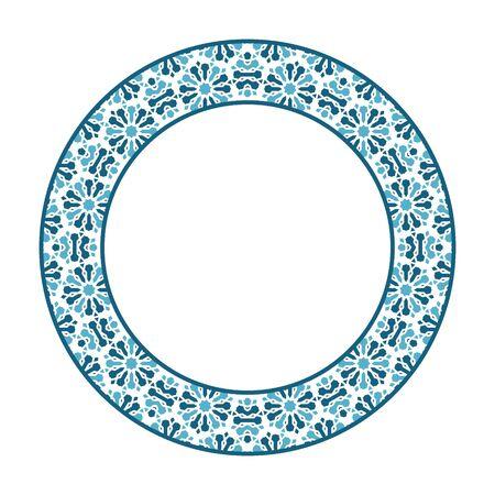 Vector Asian Tribal Circular Frame