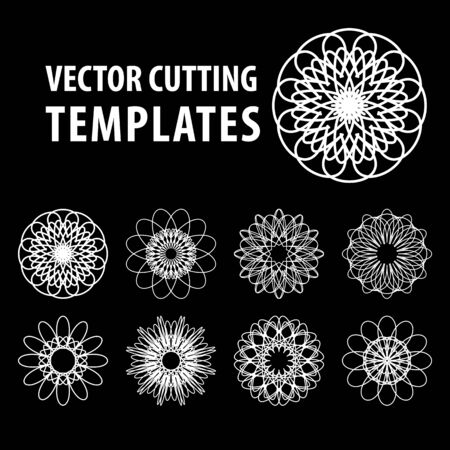 Geometric symbols for laser cutting and printing 写真素材 - 143428831