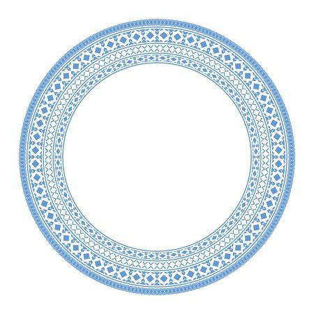 Vector Asian Mandala Frame