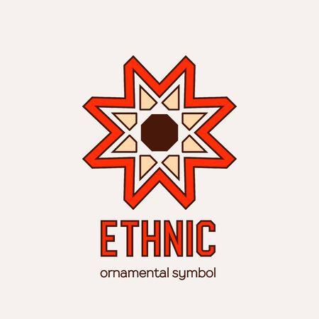 Emblème ethnique en mosaïque vectorielle Vecteurs