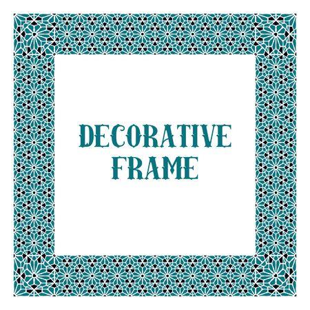 Vector Ornamental Decorative Frame  イラスト・ベクター素材