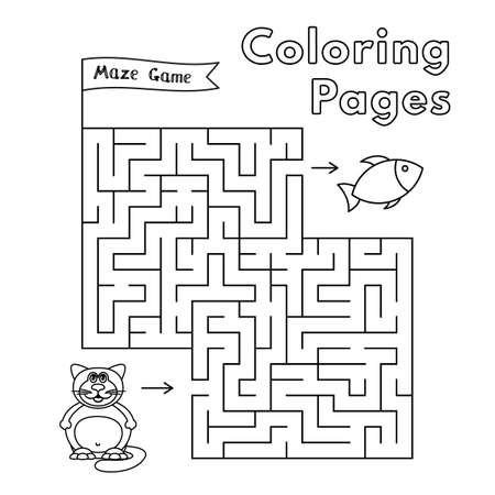 Cartoon Fat Cat Maze Game