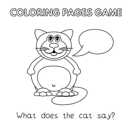 Cartoon Fat Cat Coloring Book