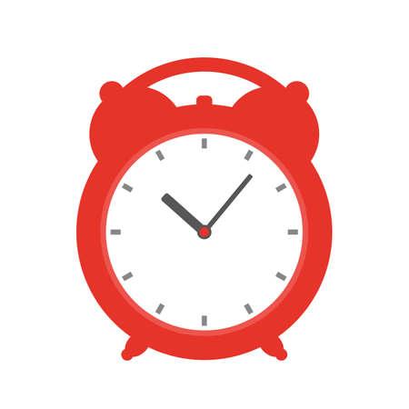 Cartoon Red Alarm Clock Vector Icon