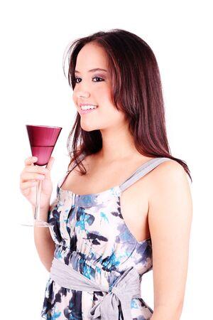 Woman drinking wine  photo