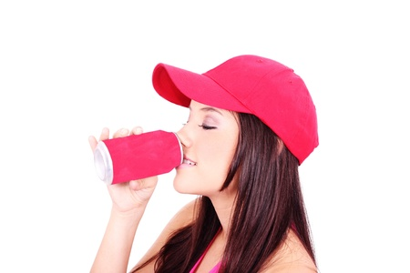 Woman drinking juice Stock Photo - 9497184