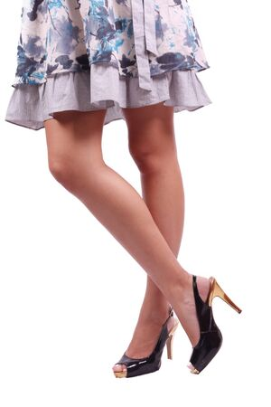 Woman legs isolated on white background Stock Photo - 9662523