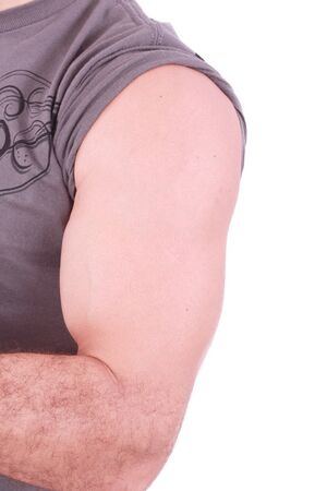 The male arm isolated on white background.  photo