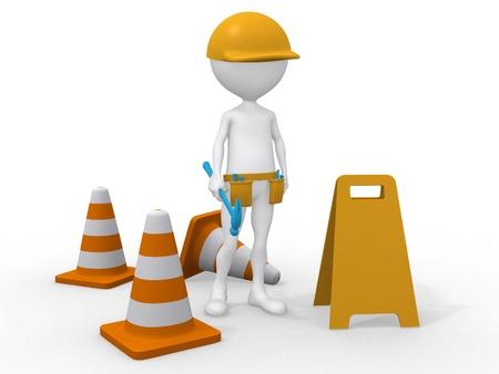 Under construction. Maintenance area. Stock Photo