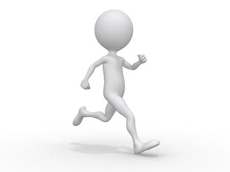 Running 3d character Stock Photo