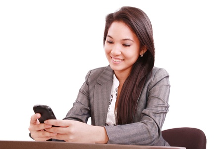 bussines people: beautiful asian bussines woman using cellphone