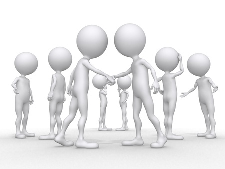conference, chat (3d characters series) Stock Photo - 10627485